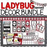 Editable Ladybug themed classroom labels
