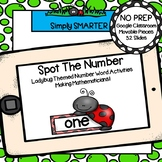 Ladybug Themed Number Word and Counting Activities For GOOGLE CLASSROOM