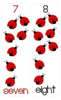 Ladybug Themed Number/Counting Charts