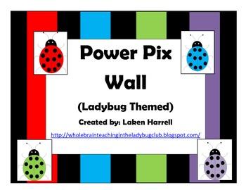 Ladybug Themed Power Pix Wall