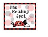 Ladybug Themed Reading Sign