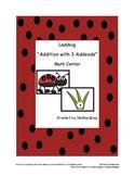 "Ladybug ""Three Addend Addition"" Math Center"