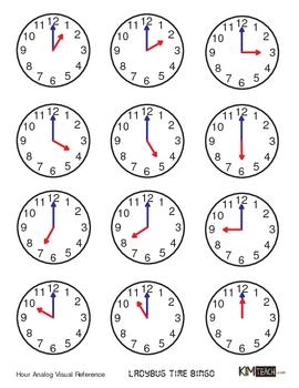 Ladybug Time Bingo - HOUR Version