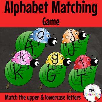 Ladybug Uppercase and Lowercase Alphabet Letter Match Up Cards