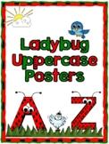 Ladybug Uppercase Posters
