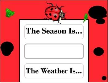 Ladybug Weather Chart! Ladybug Bulletin Board! Ladybug The