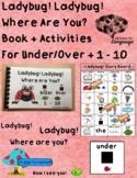 Ladybug Where Are You? Under/Over 1-10 Spring Vocabulary Autism Speech/Language