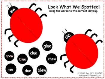 Ladybug Word Sort for SMART board