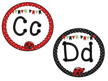 Ladybug Word Wall Letters