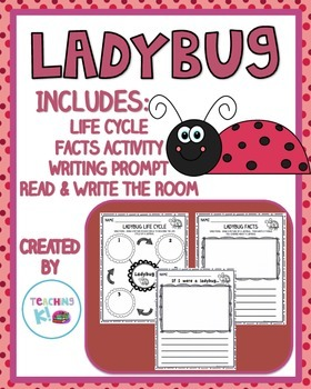 Ladybug Writing Activities:  Life Cycle, Facts Activity, W