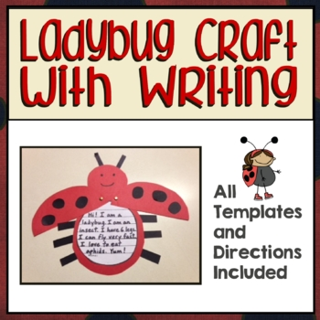 Ladybug Writing & Craft