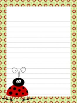 Ladybug Writing Paper - 3 Styles