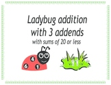 Ladybug addition with 3 addends