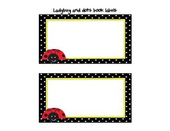 Ladybug and Dots Classroom Theme Decor
