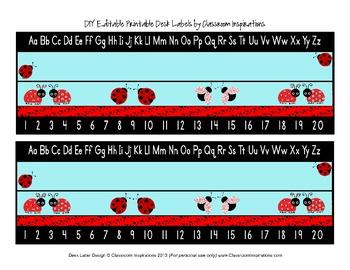 Ladybugs and Dots Nameplates