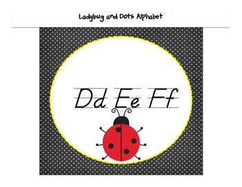 Ladybug and Dots Themed Wall Alphabet