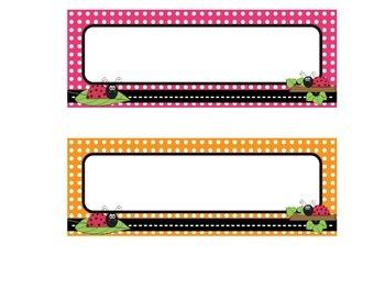 Ladybug and Polka Dot Name Tags
