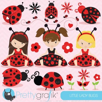 Ladybug clipart commercial use, ladybug vector graphics - CL617