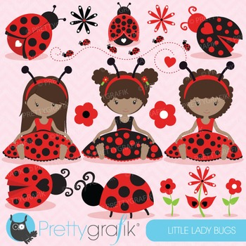 Ladybug clipart commercial use, ladybug vector graphics - CL679