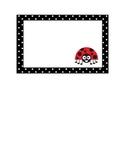 Ladybug cubby labels