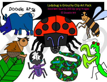 Ladybug is Grouchy Clipart Pack