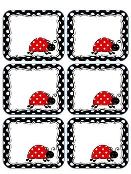 Ladybug labels