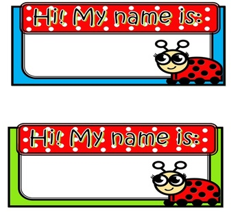 Ladybug tabletop name tags
