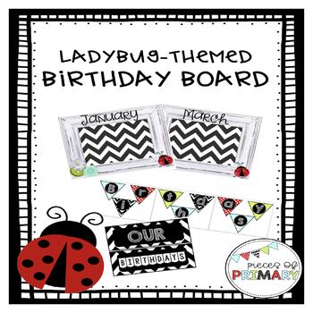 Ladybug-themed Birthday Board
