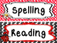 Ladybug themed Printable Classroom Subject Signs. Class Accessories.