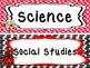 Ladybug themed Printable Classroom Subject Signs. Class Ac