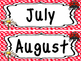 Ladybug themed Printable Month Classroom Bulletin Board Set. Class Access