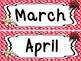 Ladybug themed Printable Month Classroom Bulletin Board Se