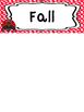 Ladybug themed Printable What Is the Season Bulletin Board Set.