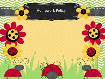 Ladybug themed open house powerpoint presentation