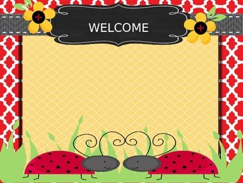 Ladybug themed open house powerpoint presentation