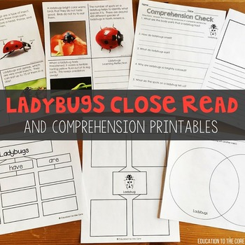 Ladybugs Close Read and Activities