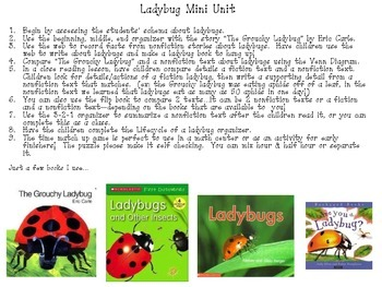 Ladybugs: A Common Core Aligned Mini Unit