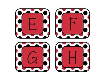 Ladybugs Decor: Alphabet Labels