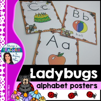 Ladybugs Classroom Decor Theme - Alphabet Posters