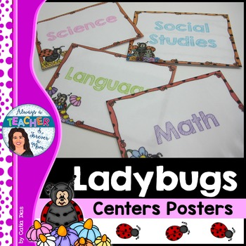 Ladybugs Classroom Decor Theme - Center Posters