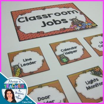 Ladybugs Classroom Decor Theme - Classroom Jobs