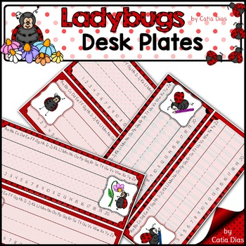 Ladybugs Classroom Decor Theme - Desk Plates