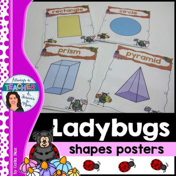 Ladybugs Classroom Decor Theme - Shapes Posters