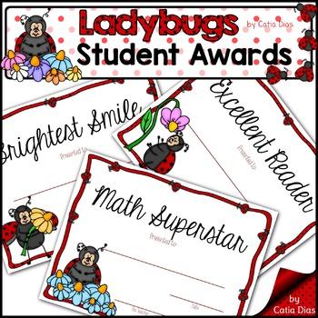 Ladybugs Classroom Decor Theme - Student Awards