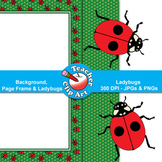 Ladybugs Clip Art — Backgrounds, Page Frames & Ladybugs
