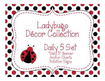 Ladybugs Decor: Daily 5 Set
