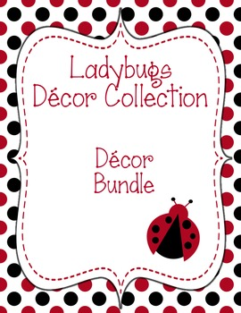 Ladybugs Decor: Decor Bundle