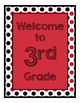 Ladybugs Decor: Red Dots Welcome Poster
