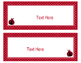 Ladybugs Decor: Editable Large Labels