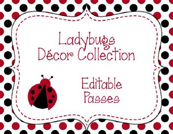 Ladybugs Decor: Editable Passes